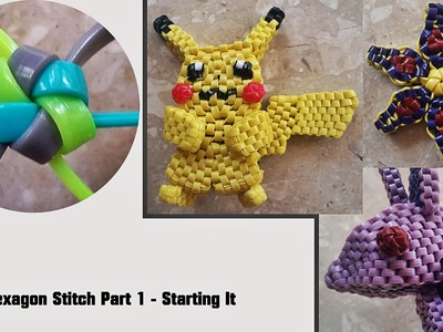 The Hexagon Stitch Lanyard Part 1 (incorporated in some of my projects) - Starting it