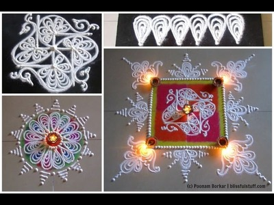 Tutorial 5 - 'Swastik' and 'Lamb kendrawardhini' | Sanskar bharati rangoli tutorials for beginners