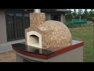 Wood Fired Pizza Oven Construction.  How we built our Pompeii dome pizza oven 2015