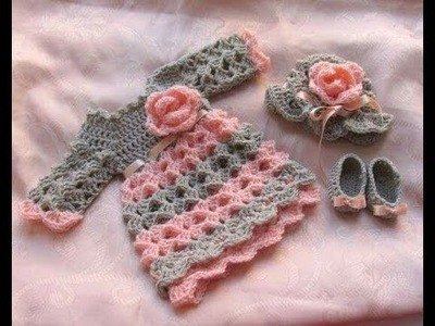Woolen sweater designs | baby frock boot and cap set woolen |