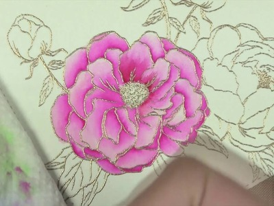 Zig Marker Watercoloring Peonies Tutorial (1 of 2)