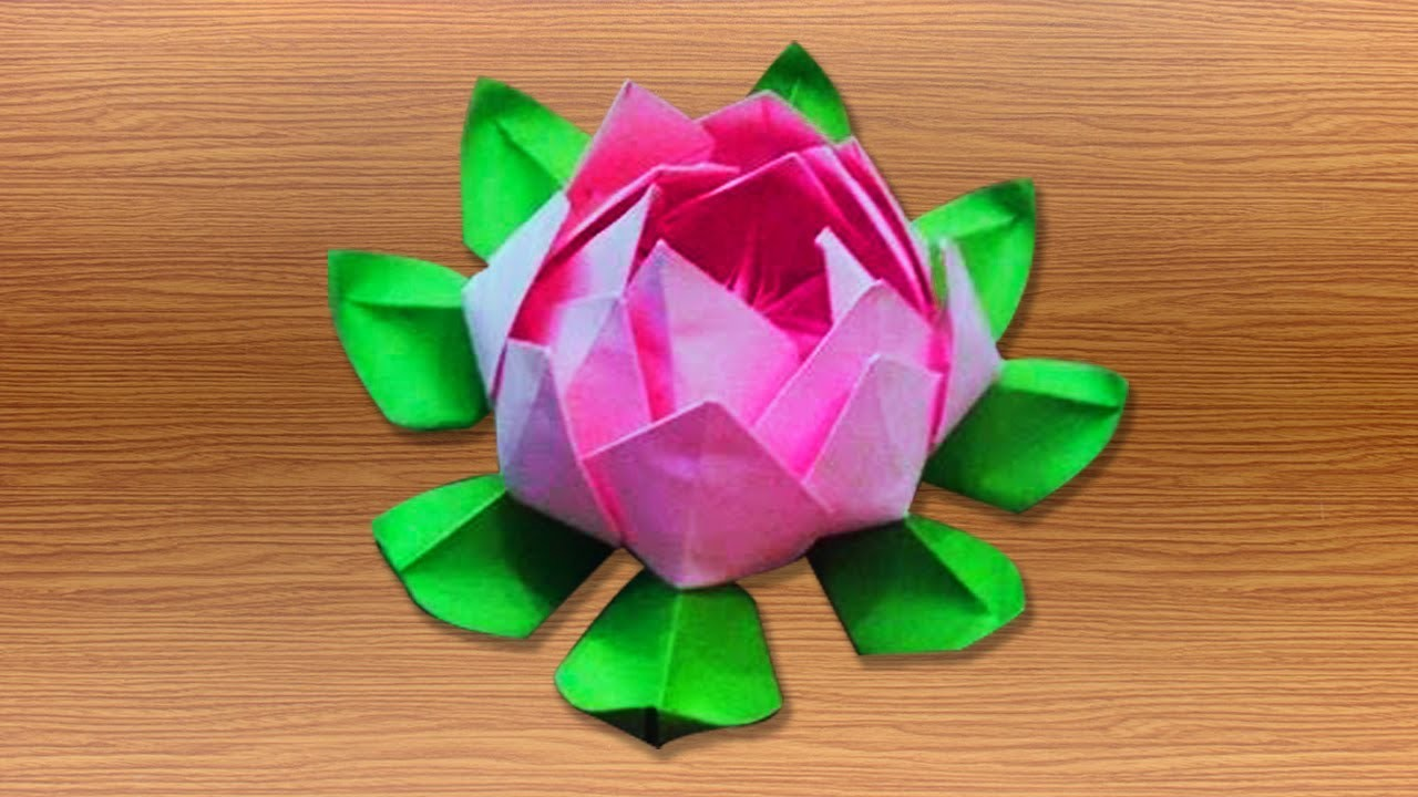 3d origami lotus flower tutorials how to make an