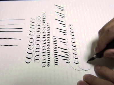 -ASMR- Practice of Calligraphy (& Fountain pen) 1