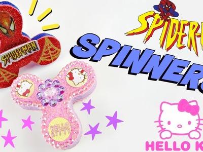 Como hacer SPINNERS caseros, fáciles y seguros HELLO KITTY