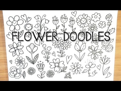 Cute and Easy Spring Flower Doodles | Doodle with Me