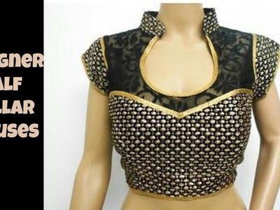 Designer Half Collar Blouses