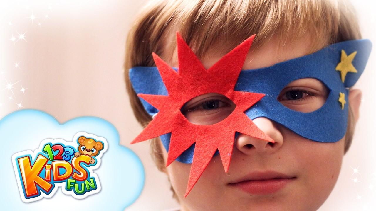 DIY by Creative Mom #1 - how to make superhero mask for a boy 123 Kids Fun