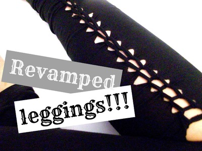 DIY: Cutout leggings-spice them up for Summer and Spring!