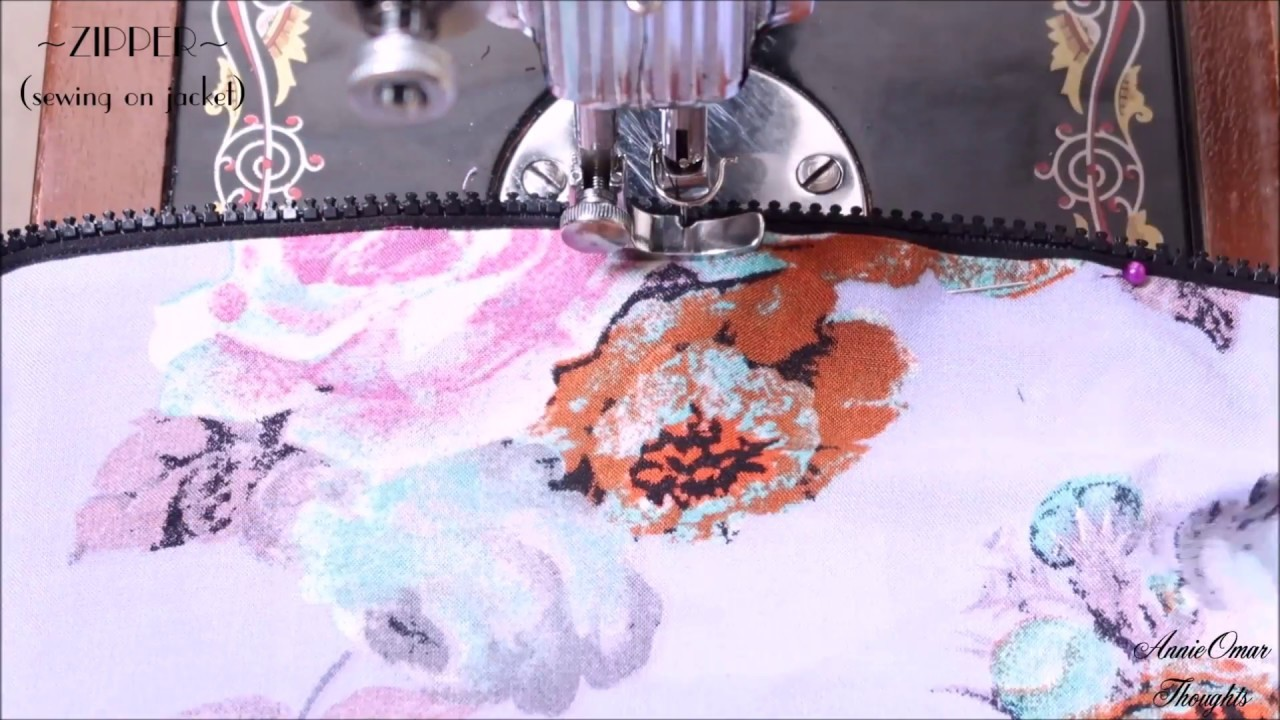 DIY How To Sew a Separating Zipper