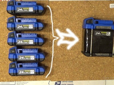 DIY: The World's first 10 Ah Li-ion power tool battery built for Electric Bike home-made
