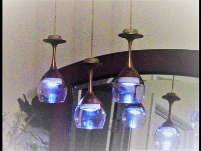 "Dollar Tree DIY ""Highend Dupe"" Modern Farmhouse Chic Wine Glass Chandelier"