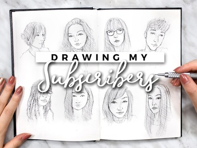 DRAWING MY SUBSCRIBERS (AGAIN) + 200K GIVEAWAY! | Sketchbook Sessions
