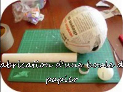 Fabrication boule de papier
