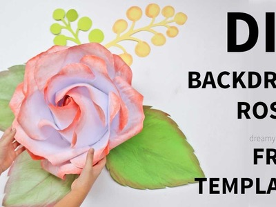 [FREE template and tutorial]: Backdrop rose from printer paper
