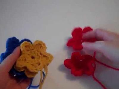Freeform Cropped Topper - Part 6: Flower Motif - Red Heart Yarn Pattern