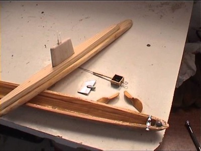 Hand made rubber powered submarine step by step.