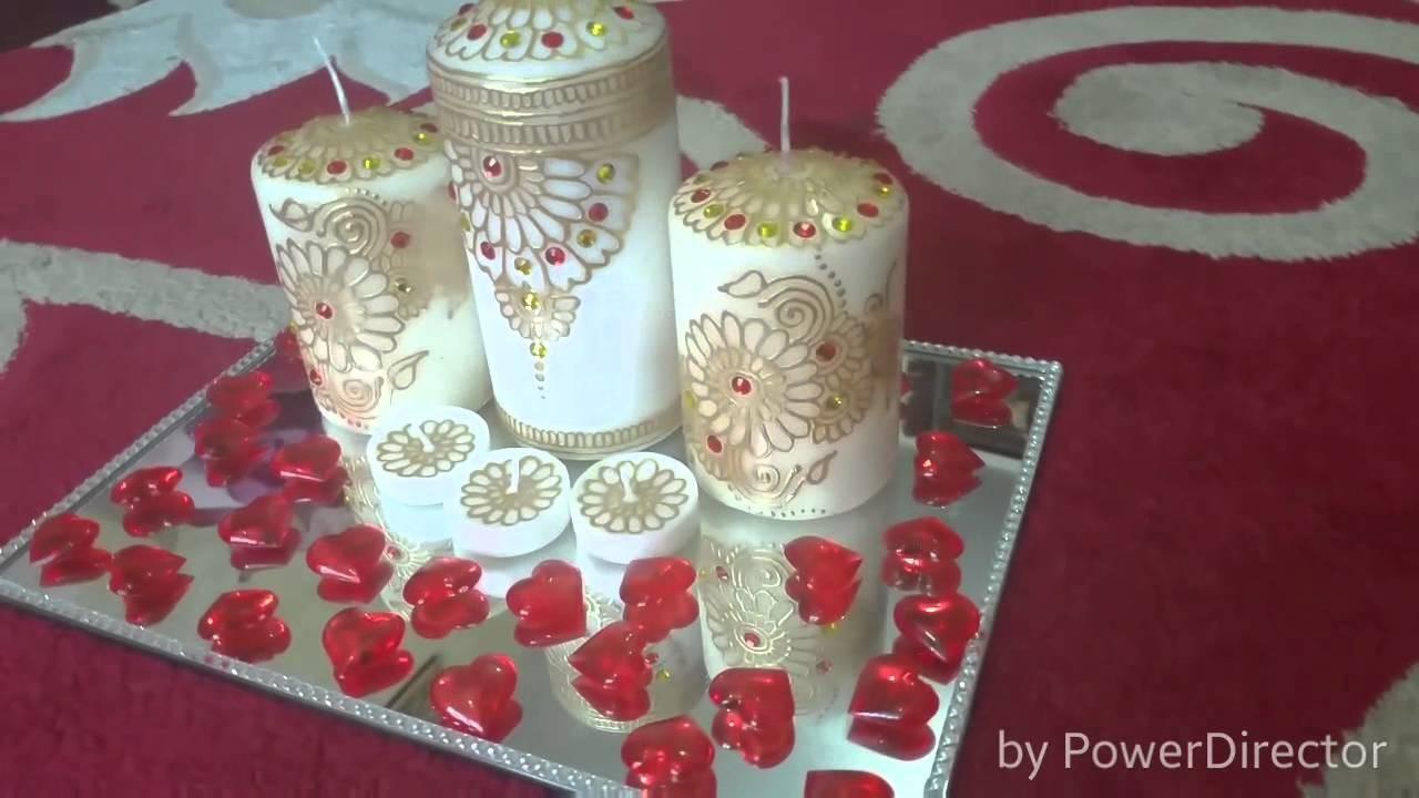 Henna design candle part 1