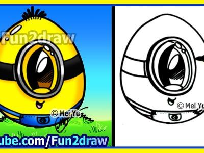 How to Draw A Minion Egg - Fun2draw