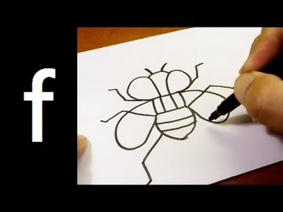 """How to Draw Cute Doodle Using Letters """"F f"""" for kids ! Kawaii & Easy doodle drawing cartoon"""