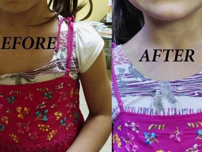 How to make a neckline smaller