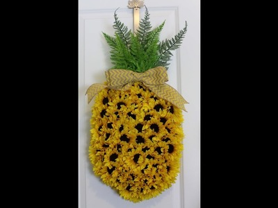 How to make a pineapple wreath with sunflowers