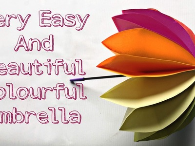 How to make amazing 3D colourful Umbrella || Origami Umbrella || Very Easy and Simple. .