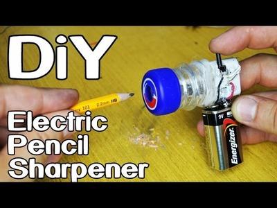 How To Make Electric Pencil Sharpener - Back 2 School LifeHack