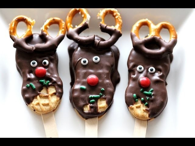 How To Make Reindeer Cookies - Day 2 of 12 Days of Christmas | Simply Bakings