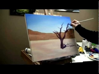 How to Paint a Desert Tree - Acrylic Painting Lesson