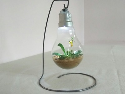 How to recycle an old light bulb