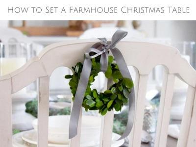 How to Set a Farmhouse Christmas Table