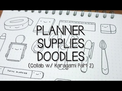 Kawaii Planner Supplies (Doodles to Stamps!) Collab with Karagami - Part 2 | Doodle with Me