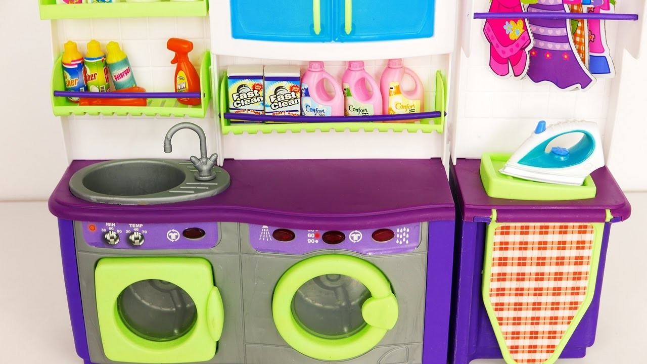 laundry washer and dryer playset for kids. Black Bedroom Furniture Sets. Home Design Ideas