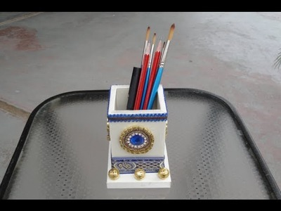 Making of a pencil.pen holder