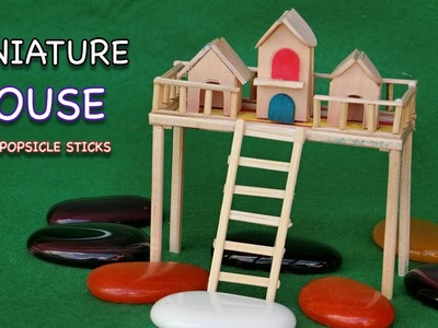 Miniature Popsicle Stick House #11 - Crafts ideas for Fairy House