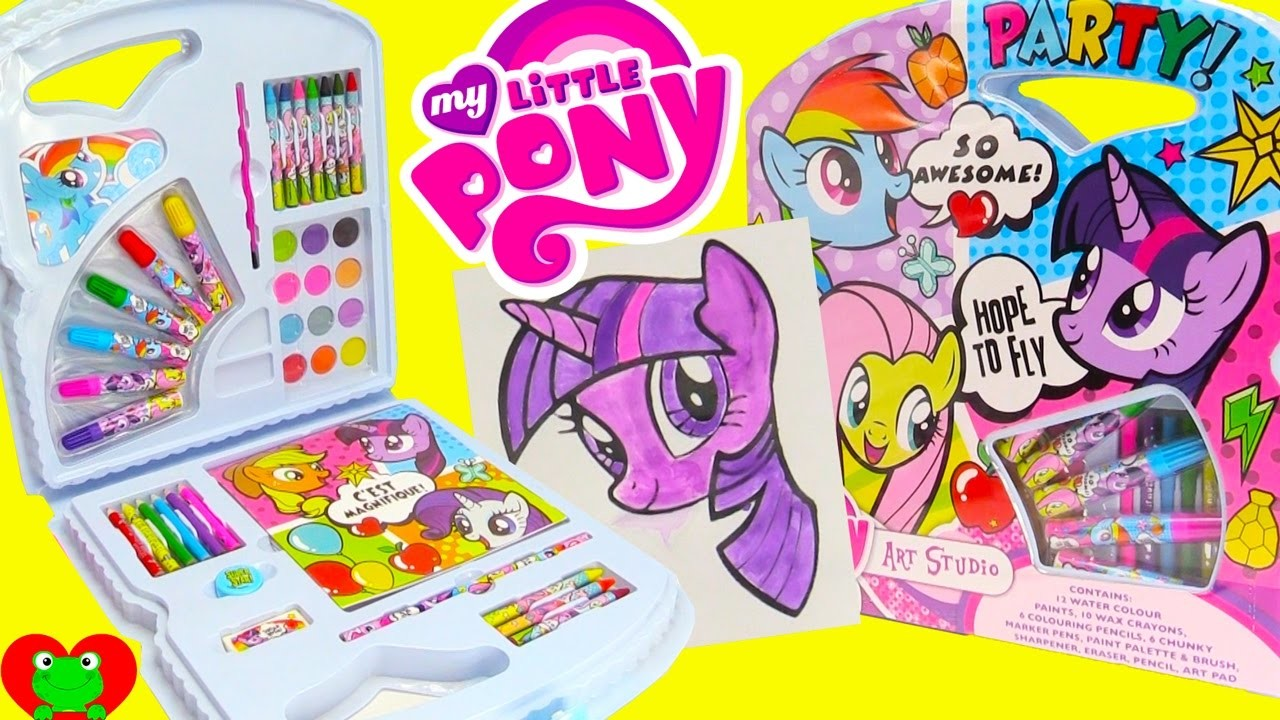 My Little Pony Art Kit Water Colors Painting Twilight Sparkle and Surprises