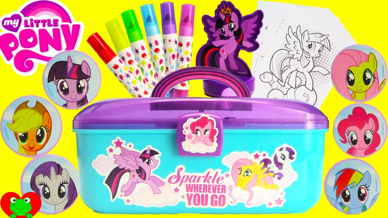 My little pony stamp art activity case and surprises my for My little pony craft ideas
