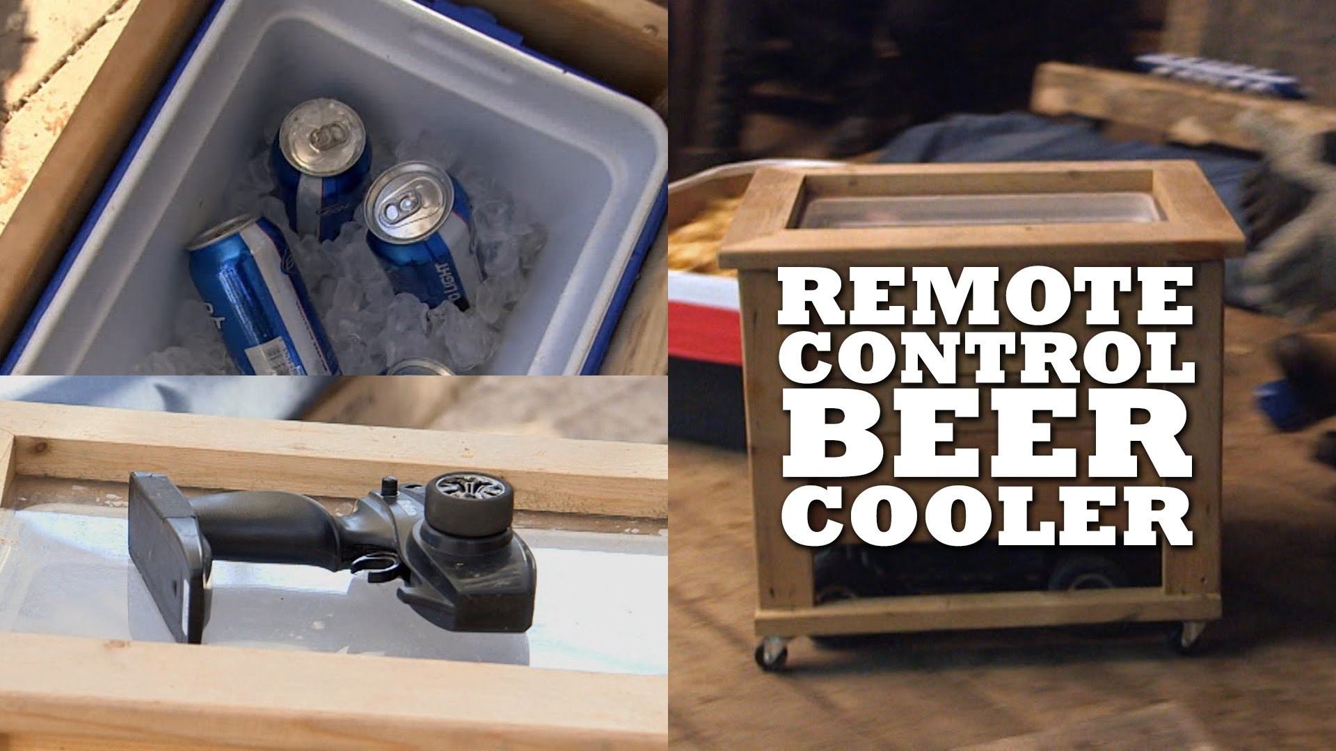 Never get up for beer with a Remote Control Beer Cooler!