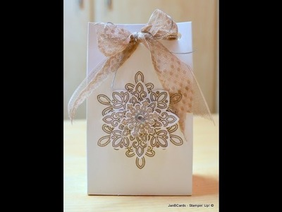 No.105 - Snowflakes Gift Bag - JanB UK Stampin' Up! Demonstrator Independent