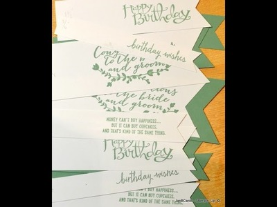 No.86 - Seven Banners from the Triple Banner Punch - JanB UK Stampin' Up! Demonstrator Independent
