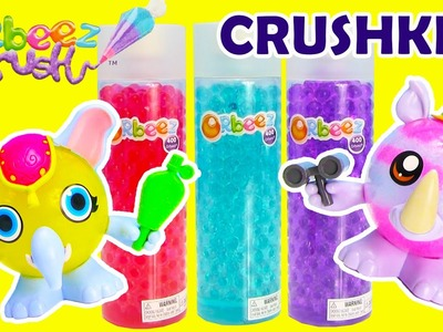 Orbeez Crush Crushkins Safari Elephant and Rhino Pets Crafting Playset