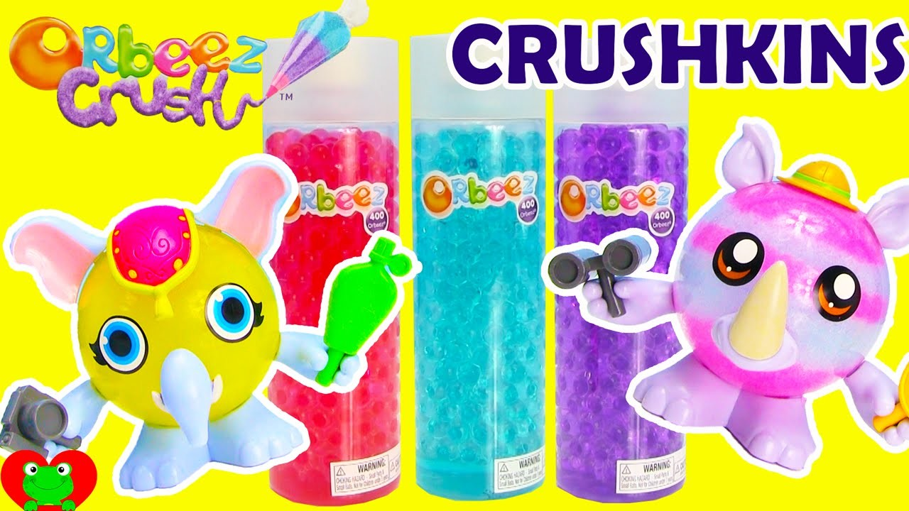 Orbeez Crush Crushkins Safari Elephant and Rhino Pets Crafting Playset