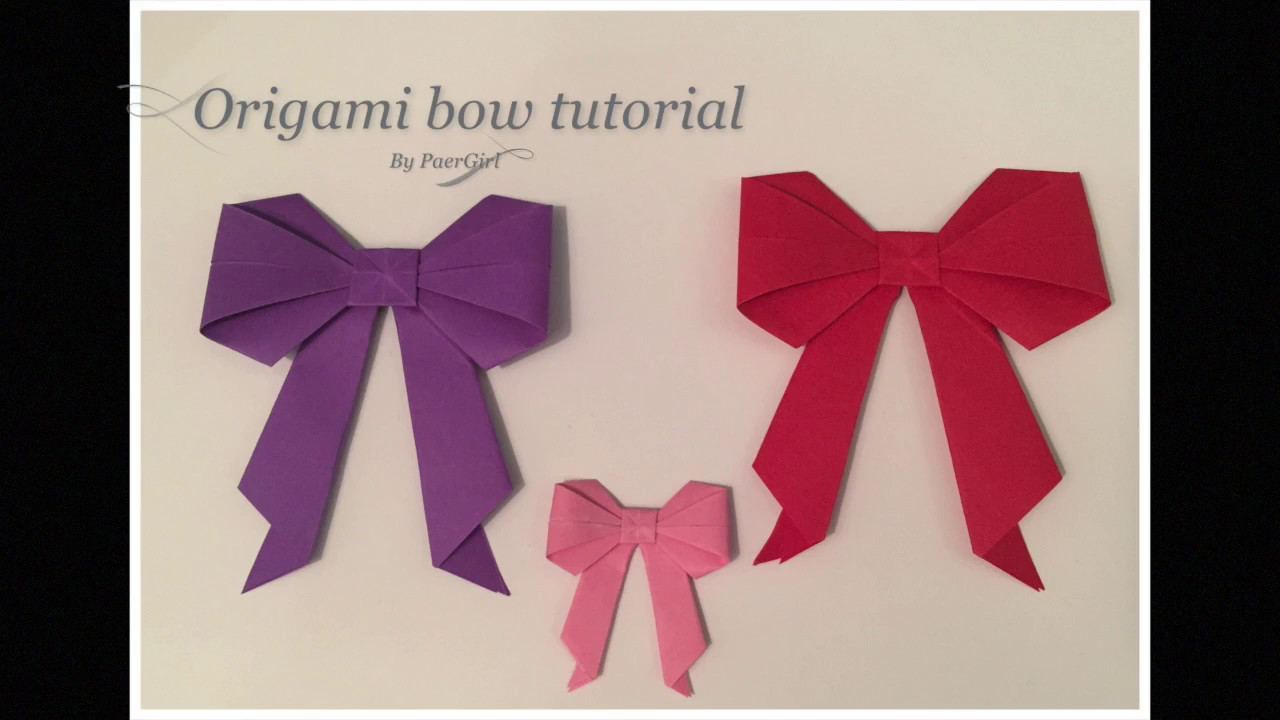 origami bow tutorial my crafts and diy projects