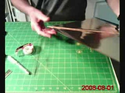 Part 4 of 5-Making an American style Fighter Kite
