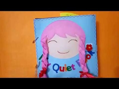 Quiet book for kid.Book for girls 02.Skill practice book.felt book. busy book