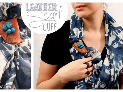 Rustic Leather Scarf Cuff How to | Installing a Metal Snap | Whitney Sews