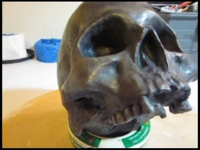 Saturday 4.21.12- Skull Painting, Plaster Sculpting, Bains in Jars, and a rant about grass