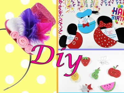 Sparkly DIY Compilation   Headband   Mickey Minnie And Donald Duck Cards