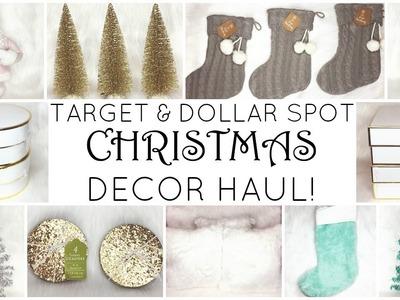TARGET & DOLLAR SPOT CHRISTMAS DECOR HAUL! ♡ 2016