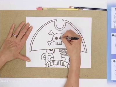 Teaching Kids How to Draw: How to Draw a Cartoon Pirate